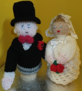 Bride and Groom Egg Cosy set