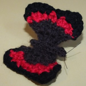 Red Admiral Butterfly brooch